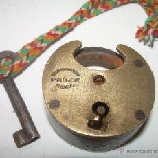 Antigüedades: ANTIGUO Y RARO CANDADO DE BRONCE.. Lote 54542859