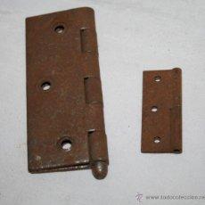 Antigüedades: LOTE DE 2 BISAGRAS ANTIGUAS. Lote 54556424