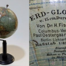 Antigüedades: 1922CA - ANTIGUO GLOBO TERRAQUEO COLUMBUS FISCHER 15CM. DIÁMETRO TERRESTRIAL GLOBE. Lote 54557593