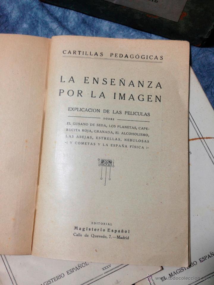 Antigüedades: RARO CINEMATÓGRAFO - LINTERNA MÁGICA LA ENSEÑANZA POR LA IMAGEN Madrid + 15 PELICULAS - Foto 28 - 54580852