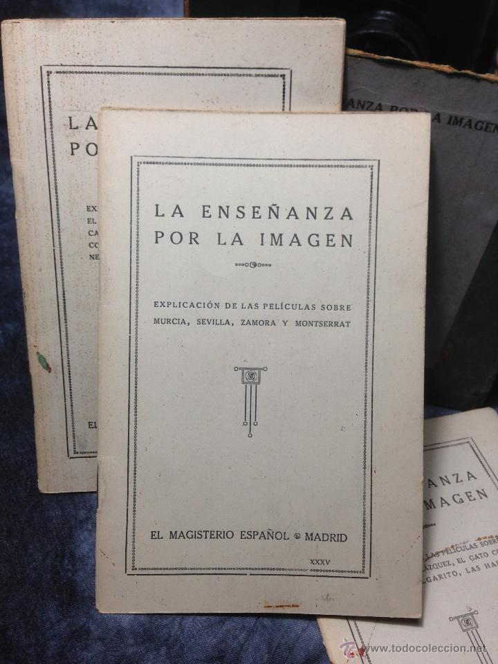 Antigüedades: RARO CINEMATÓGRAFO - LINTERNA MÁGICA LA ENSEÑANZA POR LA IMAGEN Madrid + 15 PELICULAS - Foto 33 - 54580852