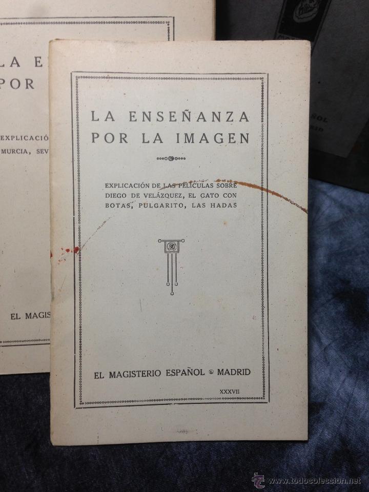 Antigüedades: RARO CINEMATÓGRAFO - LINTERNA MÁGICA LA ENSEÑANZA POR LA IMAGEN Madrid + 15 PELICULAS - Foto 34 - 54580852