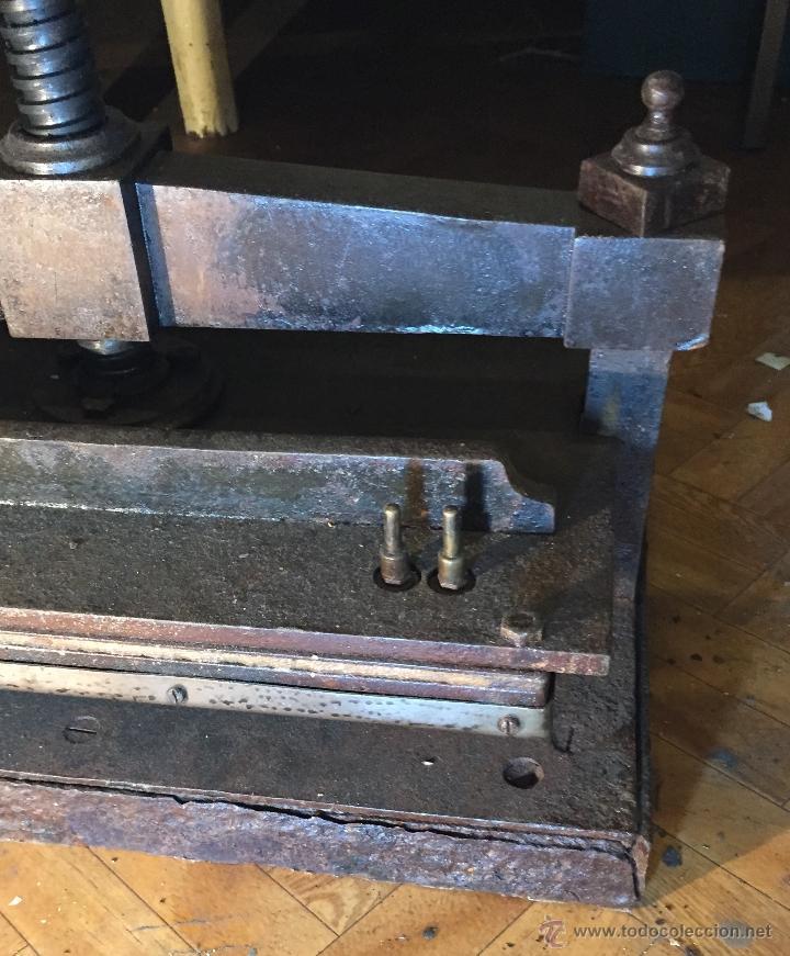 Antigüedades: Antigua prensa para libros gran tamaño - Foto 4 - 54604115