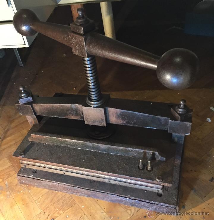 Antigüedades: Antigua prensa para libros gran tamaño - Foto 5 - 54604115