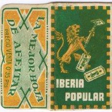 Antigüedades: FUNDA CUCHILLA HOJA AFEITAR - IBERIA POPULAR - NO INCLUYE LA HOJA. Lote 54612794