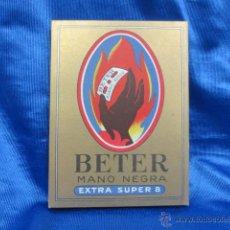 Antigüedades: ESTUCHE EXPOSITOR COMPLETO BETER MANO NEGRA EXTRA SUPER 8. Lote 54629405