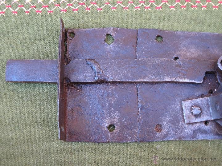 Antigüedades: CERRADURA ANTIGUA EN HIERRO FORJADO - SIGLO XVIII - XIX. - Foto 7 - 54641989