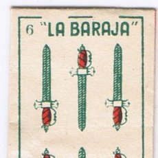 Antigüedades: FUNDA CUCHILLA HOJA AFEITAR - LA BARAJA 6 ESPADAS - MARAVILLA - NO INCLUYE LA HOJA. Lote 54664240