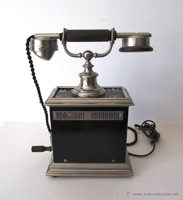 IMPRESIONANTE ANTIGUO TELÉFONO MODERNISTA AÑO 1905 ERICSSON PIEZA MUSEO MUY EXCLUSIVA 485,00 € (Antigüedades - Técnicas - Teléfonos Antiguos)