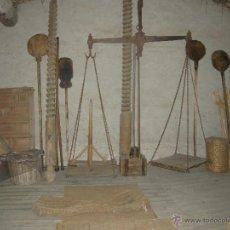 Antigüedades: BALANZA DE HIERRO GRANDE SXIX. Lote 54731136