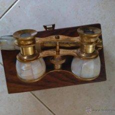 Antigüedades: PRISMATICOS BINOCULARES DE NACAR. Lote 54732772
