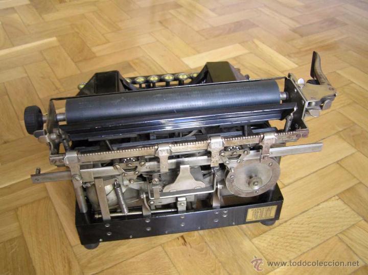 Antigüedades: ANTIGUA MÁQUINA DE ESCRIBIR MOLLE Nº 3 MOLLE TYPEWRITER COMPANY, OSHKOSH, WIS., U.S.of A. - Foto 5 - 54750428
