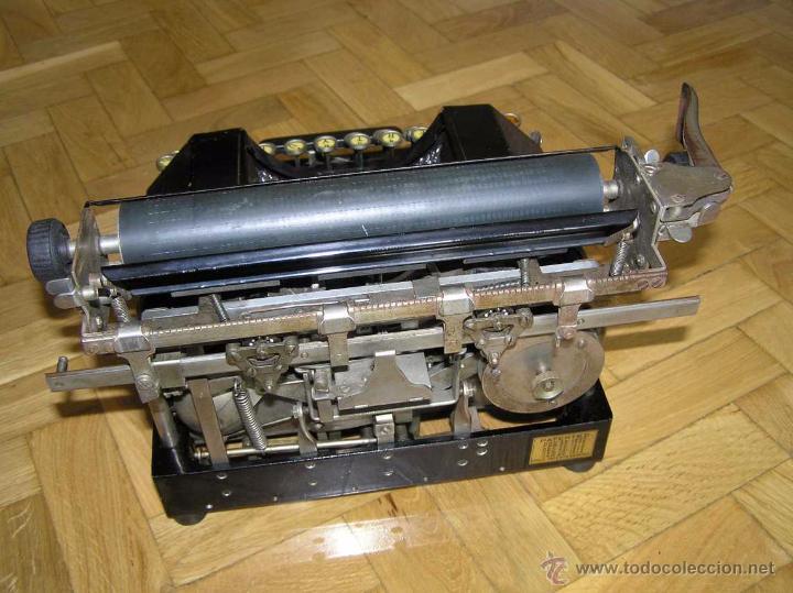 Antigüedades: ANTIGUA MÁQUINA DE ESCRIBIR MOLLE Nº 3 MOLLE TYPEWRITER COMPANY, OSHKOSH, WIS., U.S.of A. - Foto 11 - 54750428