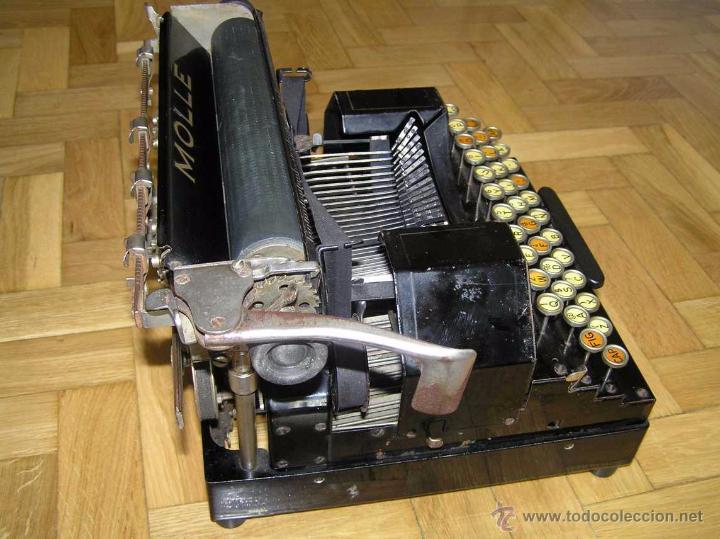 Antigüedades: ANTIGUA MÁQUINA DE ESCRIBIR MOLLE Nº 3 MOLLE TYPEWRITER COMPANY, OSHKOSH, WIS., U.S.of A. - Foto 12 - 54750428