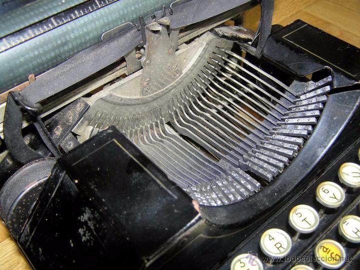 Antigüedades: ANTIGUA MÁQUINA DE ESCRIBIR MOLLE Nº 3 MOLLE TYPEWRITER COMPANY, OSHKOSH, WIS., U.S.of A. - Foto 15 - 54750428