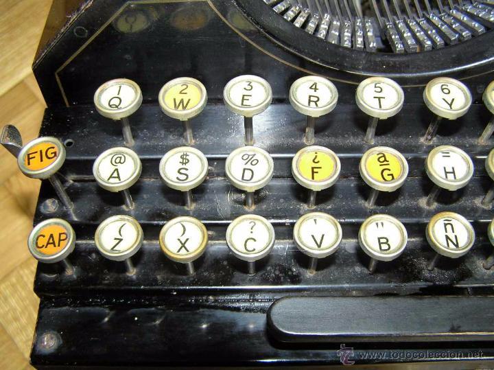 Antigüedades: ANTIGUA MÁQUINA DE ESCRIBIR MOLLE Nº 3 MOLLE TYPEWRITER COMPANY, OSHKOSH, WIS., U.S.of A. - Foto 18 - 54750428