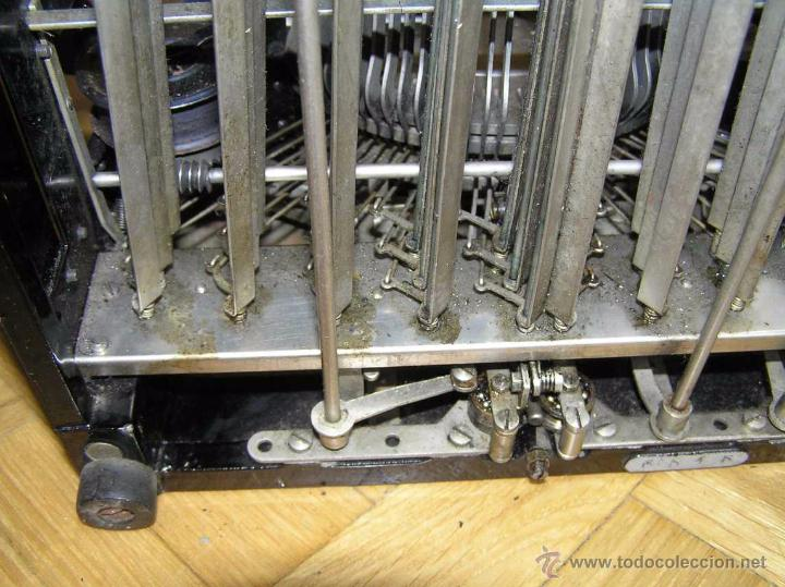 Antigüedades: ANTIGUA MÁQUINA DE ESCRIBIR MOLLE Nº 3 MOLLE TYPEWRITER COMPANY, OSHKOSH, WIS., U.S.of A. - Foto 24 - 54750428