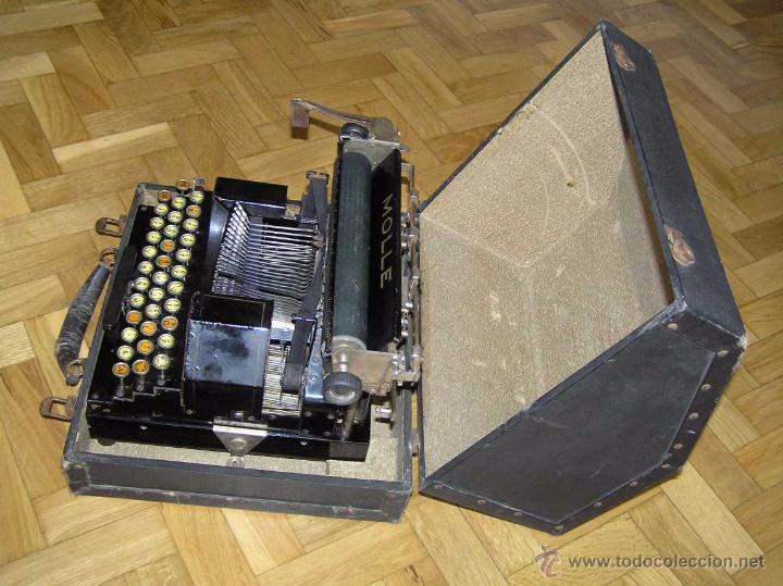 Antigüedades: ANTIGUA MÁQUINA DE ESCRIBIR MOLLE Nº 3 MOLLE TYPEWRITER COMPANY, OSHKOSH, WIS., U.S.of A. - Foto 31 - 54750428