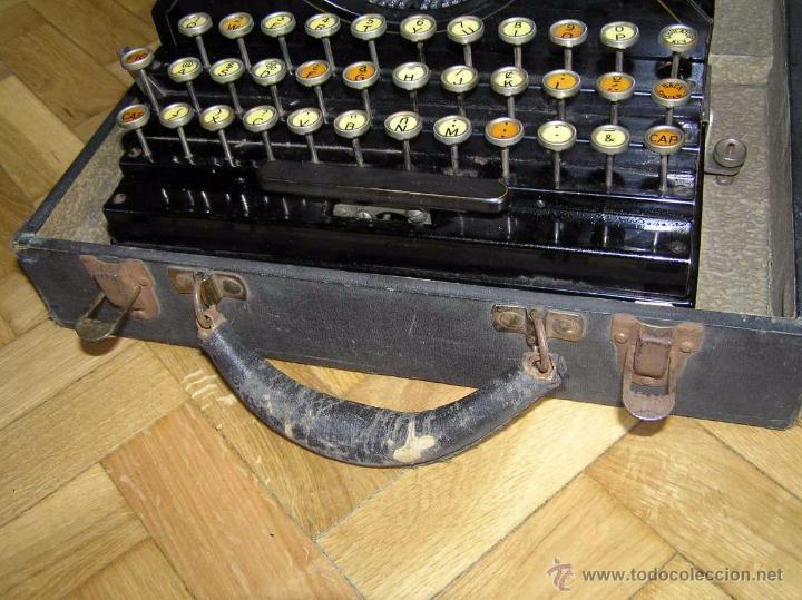 Antigüedades: ANTIGUA MÁQUINA DE ESCRIBIR MOLLE Nº 3 MOLLE TYPEWRITER COMPANY, OSHKOSH, WIS., U.S.of A. - Foto 34 - 54750428