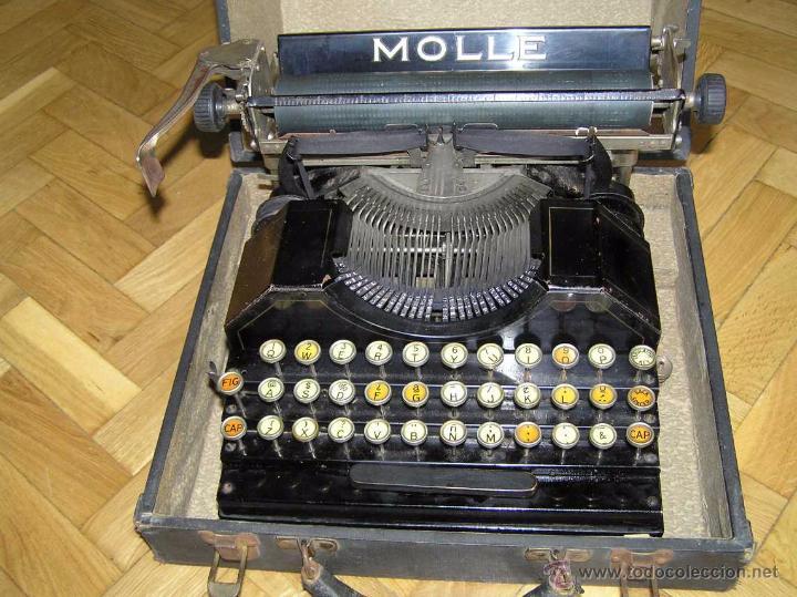 Antigüedades: ANTIGUA MÁQUINA DE ESCRIBIR MOLLE Nº 3 MOLLE TYPEWRITER COMPANY, OSHKOSH, WIS., U.S.of A. - Foto 35 - 54750428