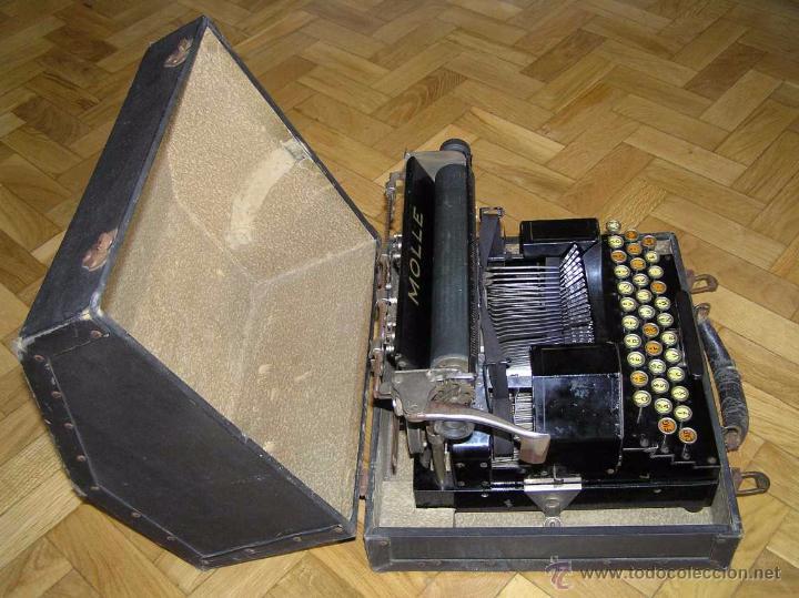 Antigüedades: ANTIGUA MÁQUINA DE ESCRIBIR MOLLE Nº 3 MOLLE TYPEWRITER COMPANY, OSHKOSH, WIS., U.S.of A. - Foto 36 - 54750428
