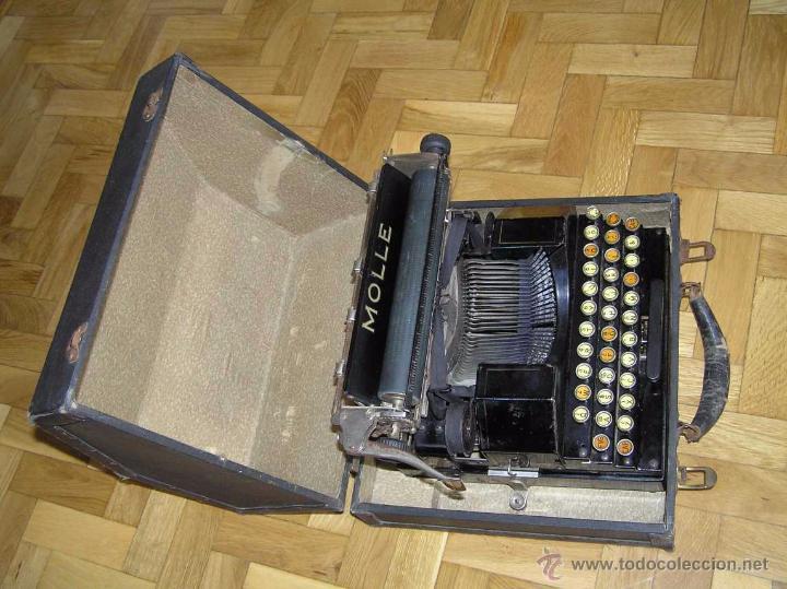 Antigüedades: ANTIGUA MÁQUINA DE ESCRIBIR MOLLE Nº 3 MOLLE TYPEWRITER COMPANY, OSHKOSH, WIS., U.S.of A. - Foto 37 - 54750428