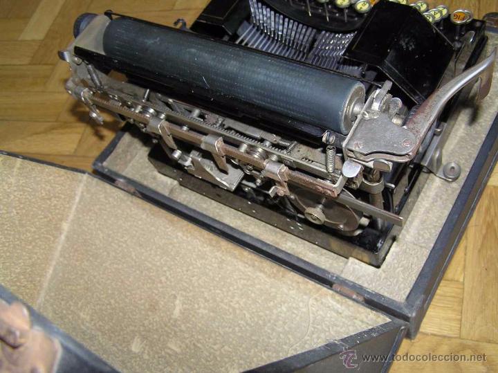 Antigüedades: ANTIGUA MÁQUINA DE ESCRIBIR MOLLE Nº 3 MOLLE TYPEWRITER COMPANY, OSHKOSH, WIS., U.S.of A. - Foto 38 - 54750428