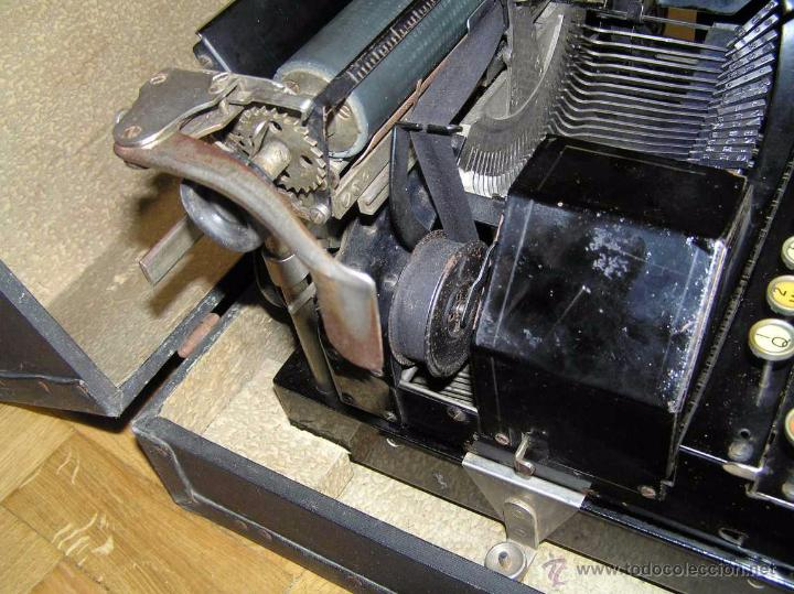 Antigüedades: ANTIGUA MÁQUINA DE ESCRIBIR MOLLE Nº 3 MOLLE TYPEWRITER COMPANY, OSHKOSH, WIS., U.S.of A. - Foto 39 - 54750428