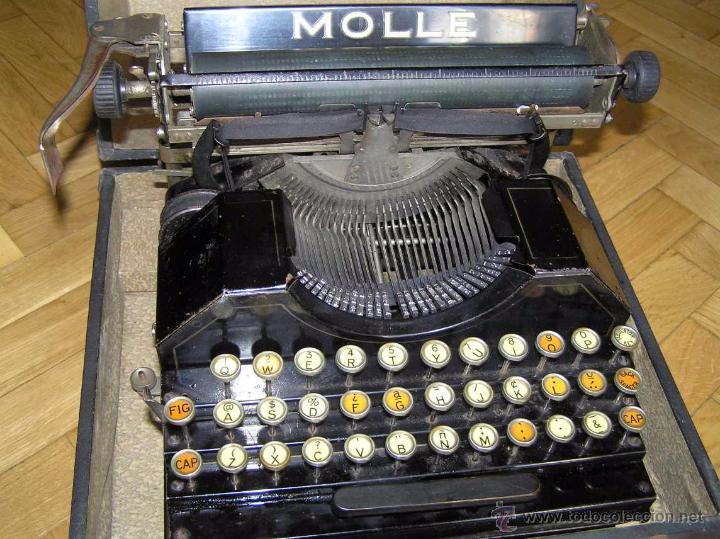 Antigüedades: ANTIGUA MÁQUINA DE ESCRIBIR MOLLE Nº 3 MOLLE TYPEWRITER COMPANY, OSHKOSH, WIS., U.S.of A. - Foto 40 - 54750428