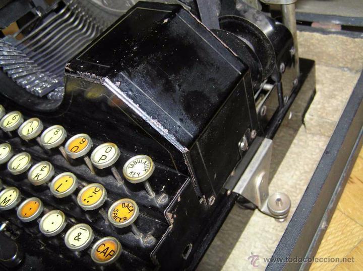 Antigüedades: ANTIGUA MÁQUINA DE ESCRIBIR MOLLE Nº 3 MOLLE TYPEWRITER COMPANY, OSHKOSH, WIS., U.S.of A. - Foto 42 - 54750428