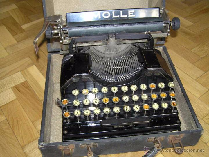 Antigüedades: ANTIGUA MÁQUINA DE ESCRIBIR MOLLE Nº 3 MOLLE TYPEWRITER COMPANY, OSHKOSH, WIS., U.S.of A. - Foto 44 - 54750428
