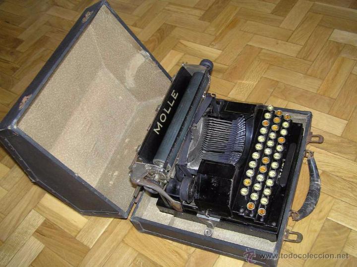 Antigüedades: ANTIGUA MÁQUINA DE ESCRIBIR MOLLE Nº 3 MOLLE TYPEWRITER COMPANY, OSHKOSH, WIS., U.S.of A. - Foto 46 - 54750428