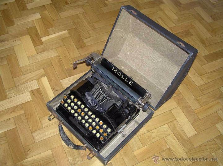 Antigüedades: ANTIGUA MÁQUINA DE ESCRIBIR MOLLE Nº 3 MOLLE TYPEWRITER COMPANY, OSHKOSH, WIS., U.S.of A. - Foto 47 - 54750428