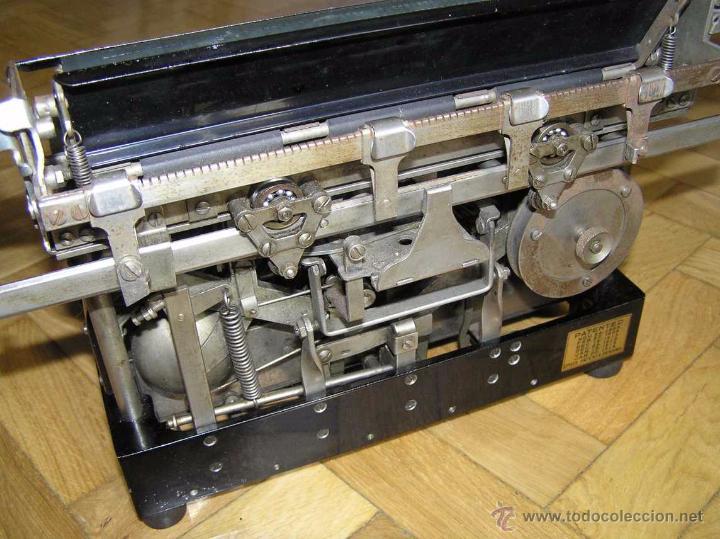 Antigüedades: ANTIGUA MÁQUINA DE ESCRIBIR MOLLE Nº 3 MOLLE TYPEWRITER COMPANY, OSHKOSH, WIS., U.S.of A. - Foto 64 - 54750428