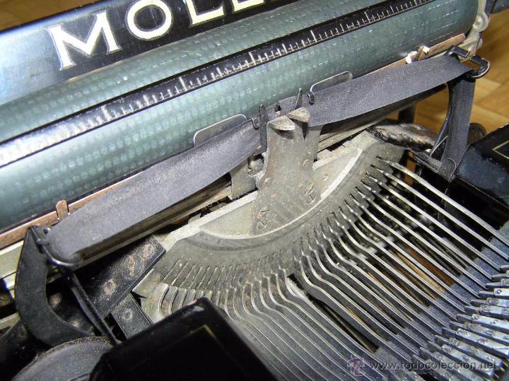 Antigüedades: ANTIGUA MÁQUINA DE ESCRIBIR MOLLE Nº 3 MOLLE TYPEWRITER COMPANY, OSHKOSH, WIS., U.S.of A. - Foto 69 - 54750428