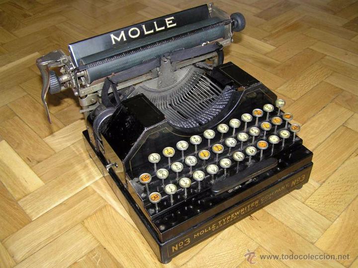 Antigüedades: ANTIGUA MÁQUINA DE ESCRIBIR MOLLE Nº 3 MOLLE TYPEWRITER COMPANY, OSHKOSH, WIS., U.S.of A. - Foto 72 - 54750428