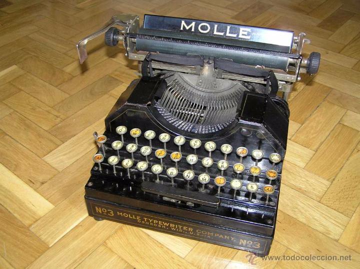 Antigüedades: ANTIGUA MÁQUINA DE ESCRIBIR MOLLE Nº 3 MOLLE TYPEWRITER COMPANY, OSHKOSH, WIS., U.S.of A. - Foto 73 - 54750428