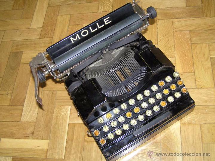 Antigüedades: ANTIGUA MÁQUINA DE ESCRIBIR MOLLE Nº 3 MOLLE TYPEWRITER COMPANY, OSHKOSH, WIS., U.S.of A. - Foto 74 - 54750428