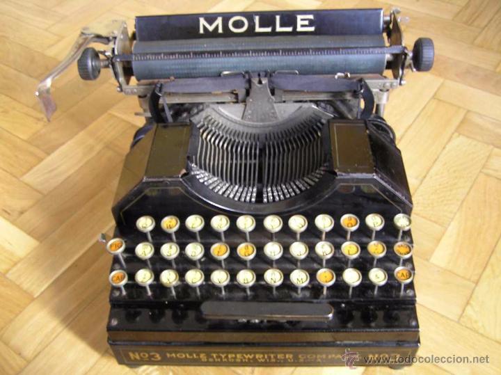 Antigüedades: ANTIGUA MÁQUINA DE ESCRIBIR MOLLE Nº 3 MOLLE TYPEWRITER COMPANY, OSHKOSH, WIS., U.S.of A. - Foto 79 - 54750428