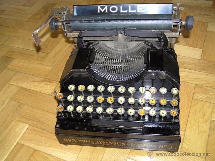 Antigüedades: ANTIGUA MÁQUINA DE ESCRIBIR MOLLE Nº 3 MOLLE TYPEWRITER COMPANY, OSHKOSH, WIS., U.S.of A. - Foto 80 - 54750428