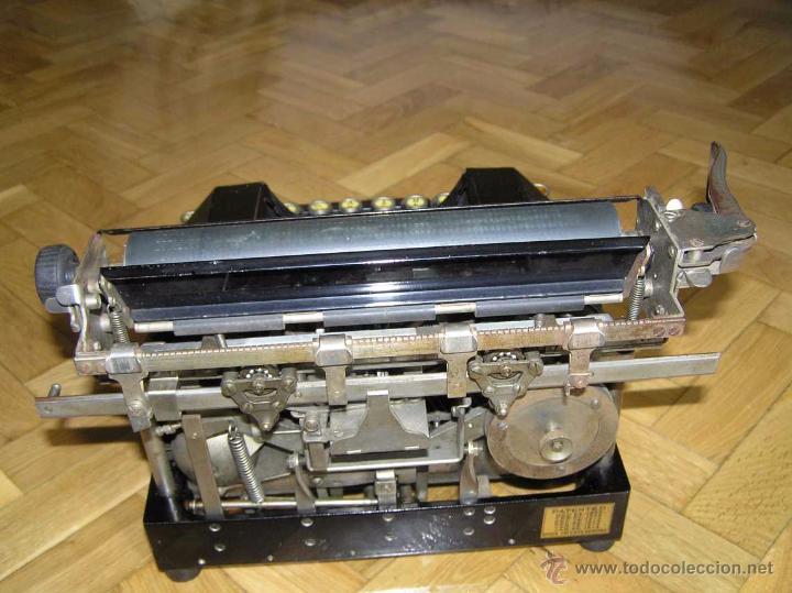 Antigüedades: ANTIGUA MÁQUINA DE ESCRIBIR MOLLE Nº 3 MOLLE TYPEWRITER COMPANY, OSHKOSH, WIS., U.S.of A. - Foto 84 - 54750428