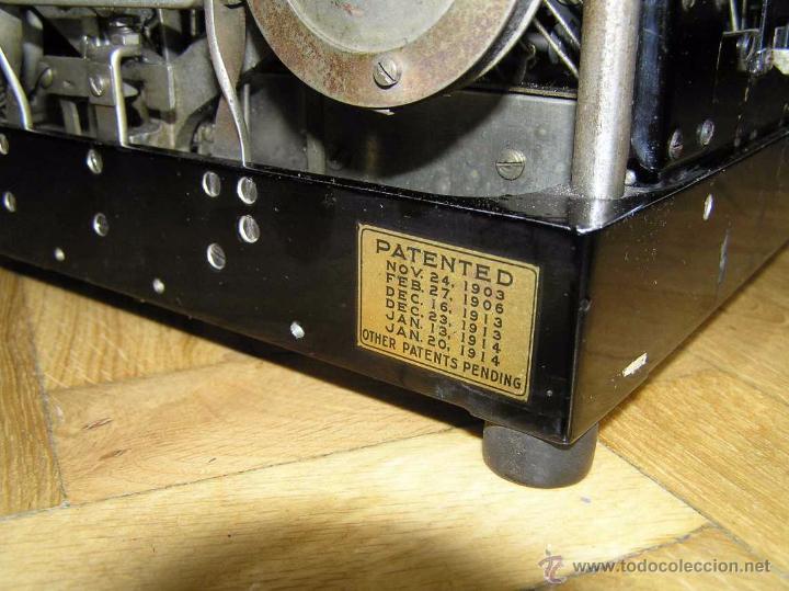 Antigüedades: ANTIGUA MÁQUINA DE ESCRIBIR MOLLE Nº 3 MOLLE TYPEWRITER COMPANY, OSHKOSH, WIS., U.S.of A. - Foto 86 - 54750428