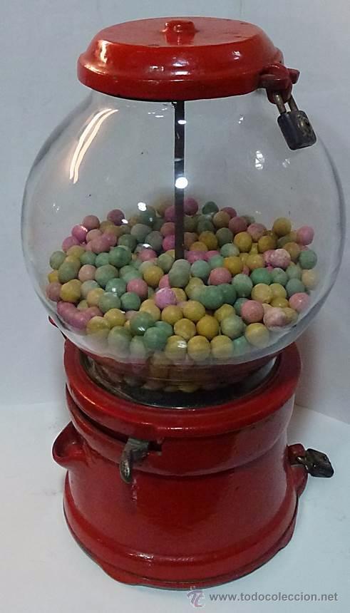 Antigüedades: Gum ball bank- máquina expendedora de mostrador de chicles o caramelos -años 40- 100% original - Foto 4 - 54791014