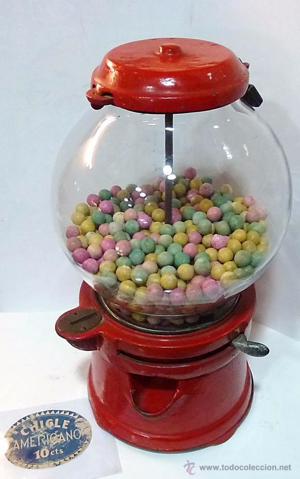 Antigüedades: Gum ball bank- máquina expendedora de mostrador de chicles o caramelos -años 40- 100% original - Foto 5 - 54791014