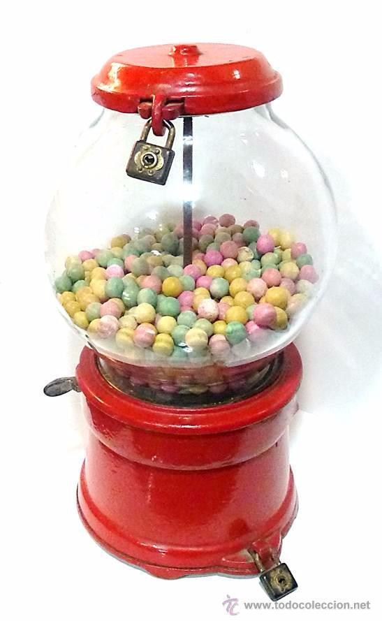 Antigüedades: Gum ball bank- máquina expendedora de mostrador de chicles o caramelos -años 40- 100% original - Foto 6 - 54791014