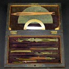 Antigüedades: ESTUCHE DE DIBUJO TÉCNICO. ESPAÑA. FIN XIX.. Lote 54628787