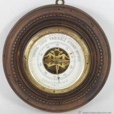 Antigüedades: BAROMETRO. ESTACION METEREOLOGICA. EN LATON Y MADERA. SIGLO XIX.. Lote 277687263