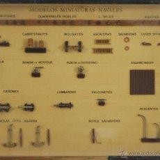Antigüedades: COMPOSICION DE MINIATURAS NAVALES. ENMARCADAS. SIGLO XX.. Lote 53096666