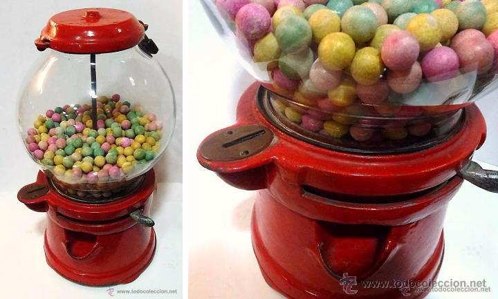 Antigüedades: Gum ball bank- máquina expendedora de mostrador de chicles o caramelos -años 40- 100% original - Foto 8 - 54791014