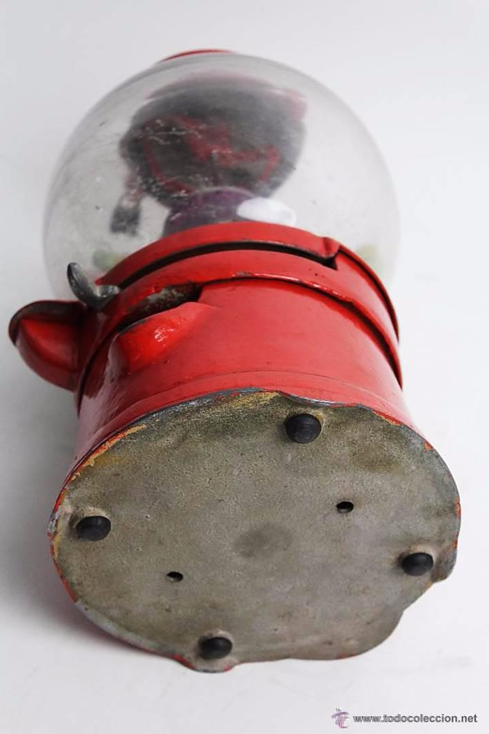 Antigüedades: Gum ball bank- máquina expendedora de mostrador de chicles o caramelos -años 40- 100% original - Foto 9 - 54791014